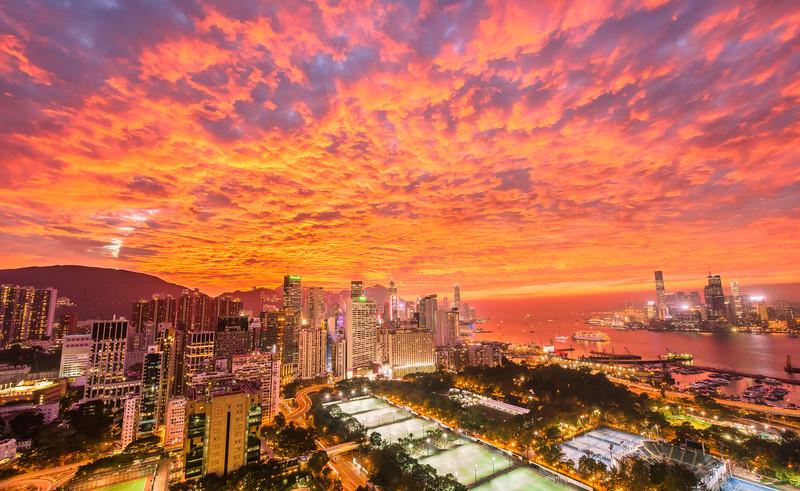 Fire Skies in Hong Kong