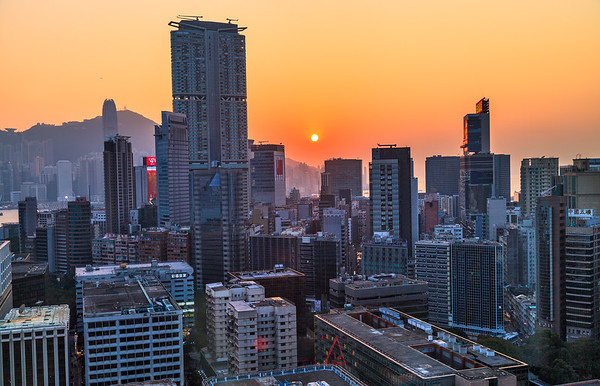 Red Orb over Hong Kong