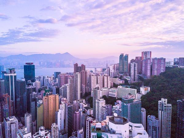Sunrise from Hong Kong Island