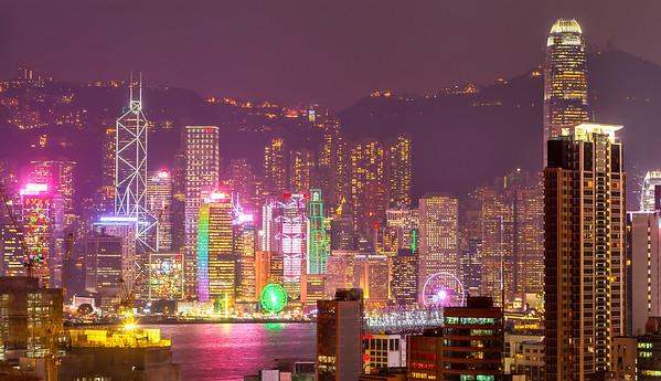 Night Lights in Hong Kong