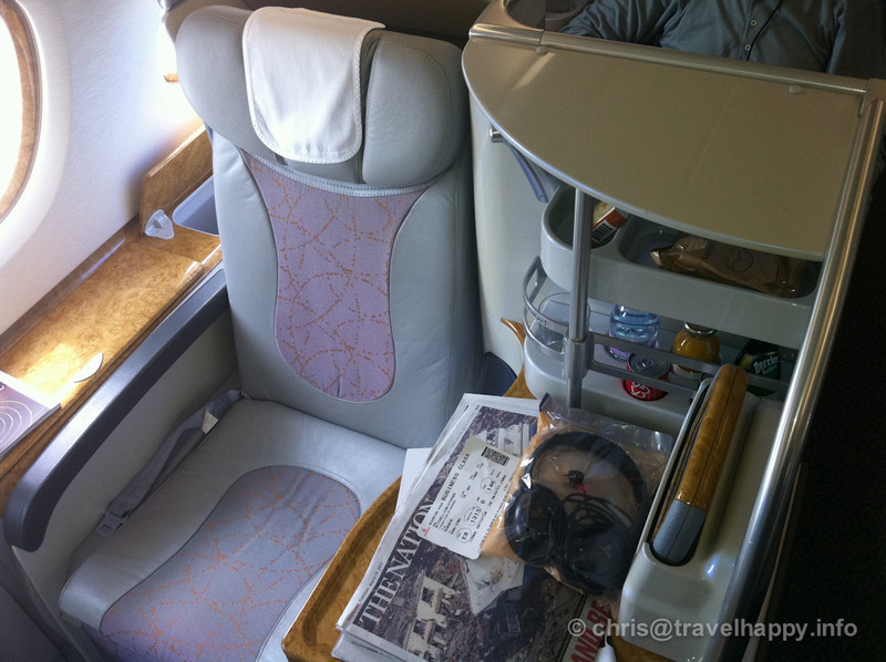 A380 Emirates Business Class Bangkok to Hong Kong