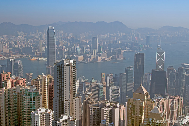 Hong Kong Harbor from Victoria Peak