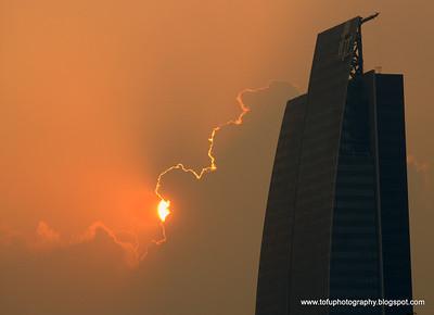 A stunning Guangzhou sunset - July 2009