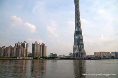Super skyscrapers in Guangzhou - July 2009