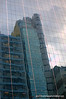 Reflection of a building in in Hong Kong. Photographed in July 2009