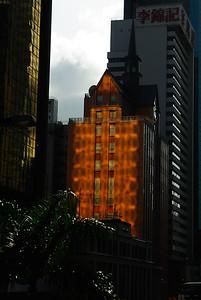 Niektóre miejsca w Hongkongu widza tylko odbite swiatlo