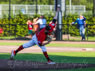 30-07-2020: Honkbal: Quick Amersfoort v Storks: Amersfoort Hoofdklasse Pitcher Brian van Laar va Quick