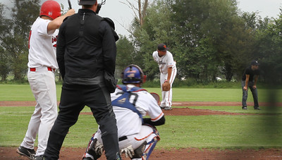 Base Hit over second base