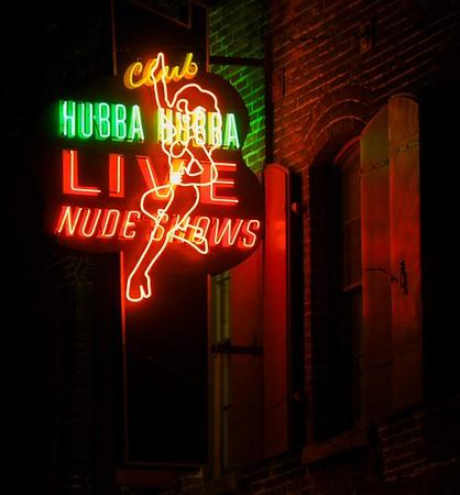 Club Hubba Hubba Sign Closeup