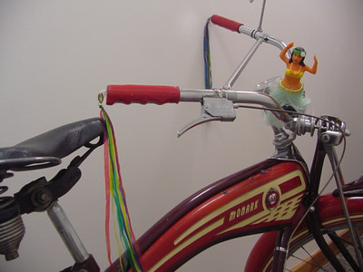 Old Monark Bicycle in Hallway