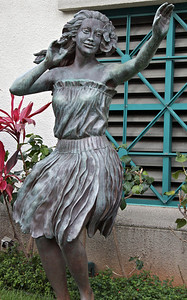 Hula Dancer Sculpture