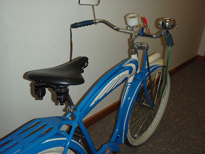 Old Spitfire Bicycle in Hallway
