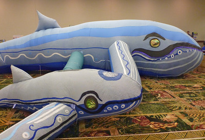 Harmony and Melody: Inflatable Pacific Humpback Whales