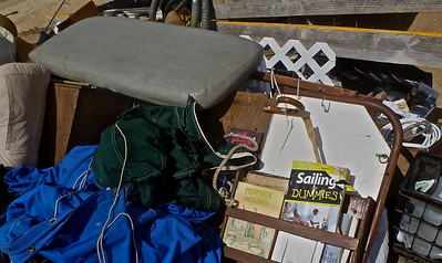 "Salvaged Items from Capsized Boat Include ""Sailing for Dummies"" Book"