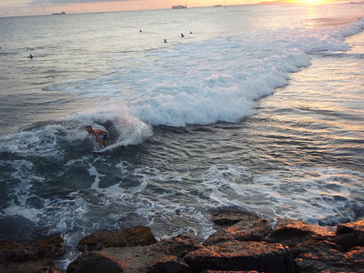 Boogie Boarder at Sunset