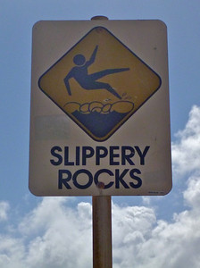Lava Rocks by The Ocean—Slippery and Sharp!