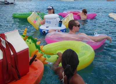 Floating Cooler Keeps Refreshments Close By