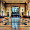The North Waiting Room in the Union Station looking toward the Grand Lobby