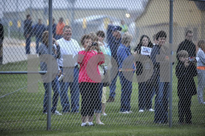 -Messenger photo by Hans Madsen<br /> <br /> Family and friends line the fence at the Fort Dodge Regional Airport to see the Brushy Creek Area Honor Flight off to Washington D.C. Saturday morning.