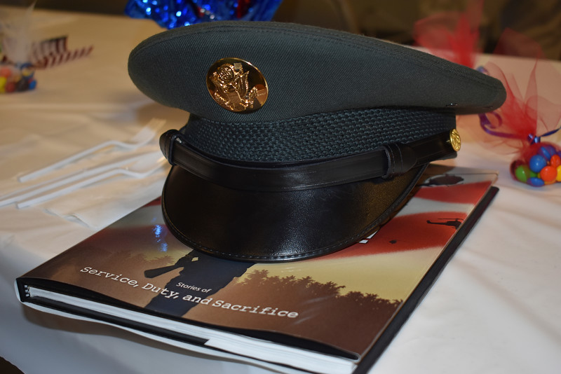 -Messenger photo by Chad Thompson<br /> <br /> Salvador Calderon Jr.'s military hat is displayed here.