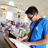 Lenny Enkhbold '17 signs the honor book in Lee chapel.