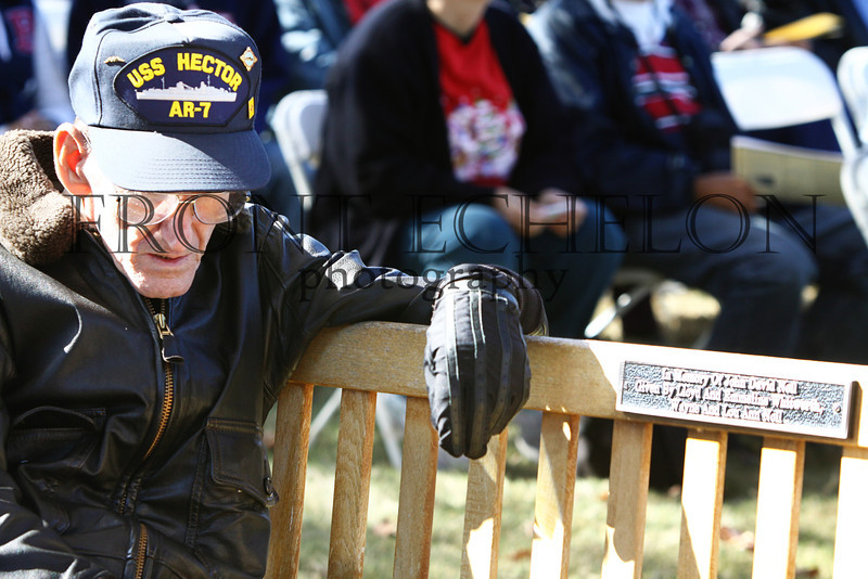 """WWII veterans and families pay tribute at the remembering Pearl Harbor ceremony at the Museum of the Pacific """"Nimitz"""" museum, December 7, 2011."""