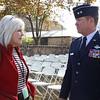 Trish with Major General John F. Nichols, TNG Adjutant General Texas