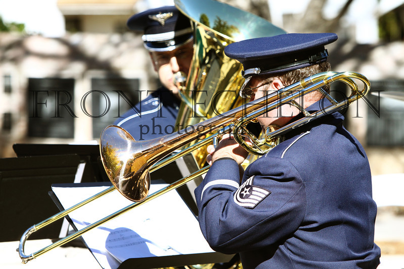 """Air Force band. Remembering Pearl Harbor ceremony at the Museum of the Pacific """"Nimitz"""" museum, December 7, 2011."""