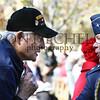 WWII veteran Ike, talks with Major Gen. Nichols.
