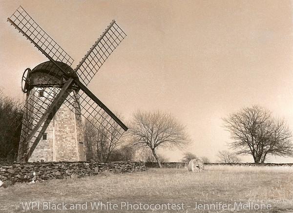 "WPI Black and White Photo Contest Winner - ""Jamestown, RI Windmill"" on film"