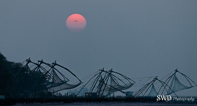 Sunset at Vembanad Lake, Kochi India