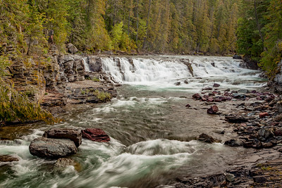 Sacred Dancing Falls in Glacier National Park. is formed by McDonald Creek.  This photos took third place in the Landscape/Advanced category in the 2019 Big Sky Montana Fair photo contest