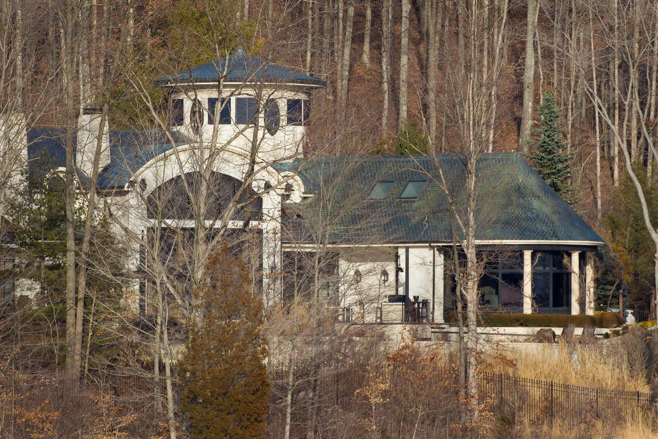 John Mellencamp home on Lake Monroe, Monroe County, Indiana, Feb 2013.