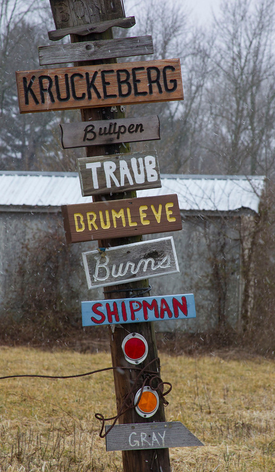 Near Bean Blossom, Indiana along State Road 45.  Feb 2013.