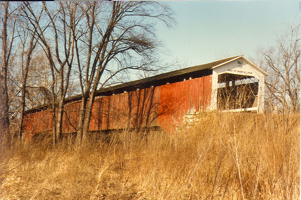 Coal Creek Covered Bridge, Parke County, Indiana.  Photographed in January 1983.