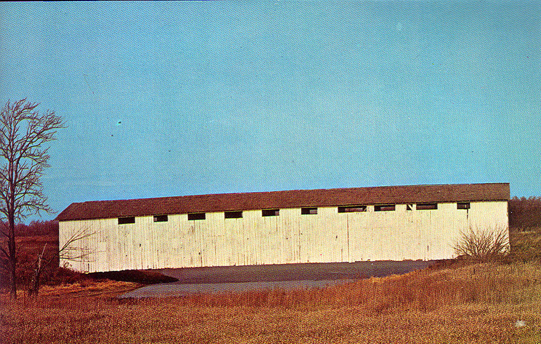 Dora Covered Bridge, Wabash County, Indiana.  Removed to make way for Salamonie Reservoir.