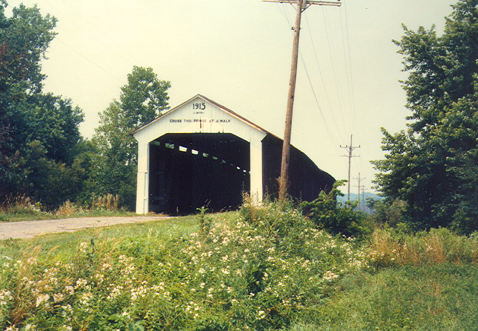 Jeffries Ford Covered Bridge, Parke County, Indiana. July 1982.