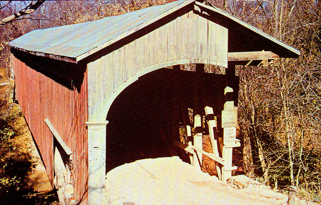 Nancy Jane Covered Bridge, Monroe County, Indiana.  This was one of four covered bridges moved for construction of Monroe Reservoir.