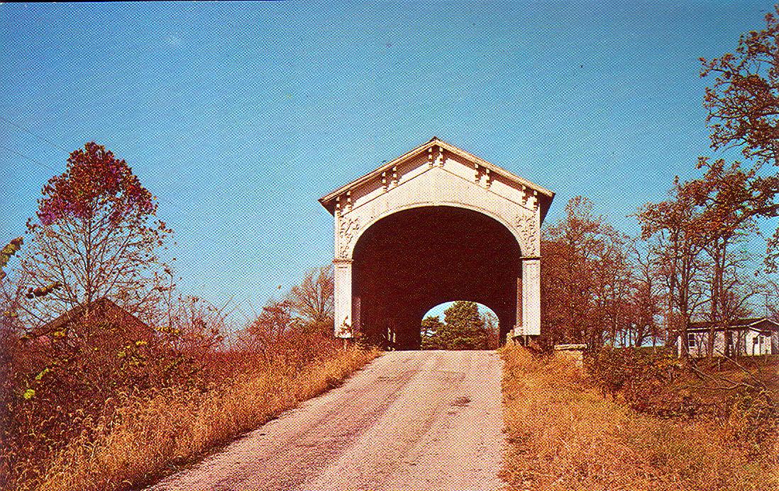 Offut's Ford Covered Bridge, Rush County, Indiana.