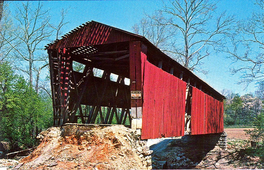 Putnamville Covered Bridge was located a half mile west of Putnamville over Deer Creek.