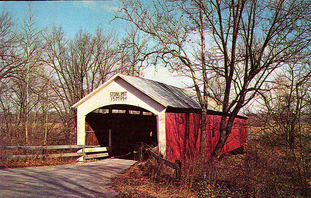 Older postcard view of South Hill Bridge.