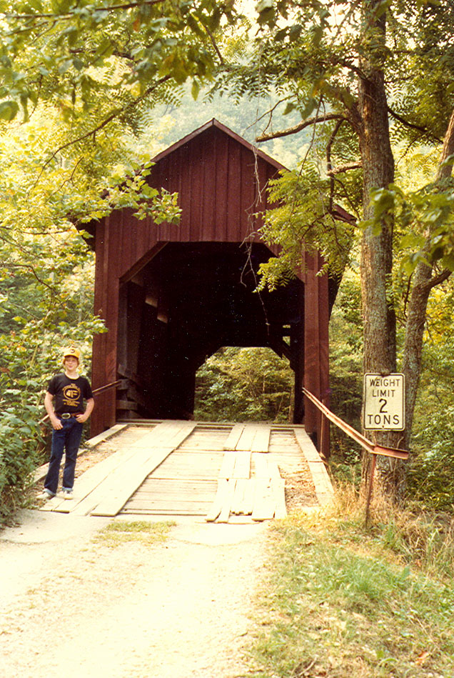 Bean Blossom Covered Bridge, Brown County, Indiana.  Photo 1981.