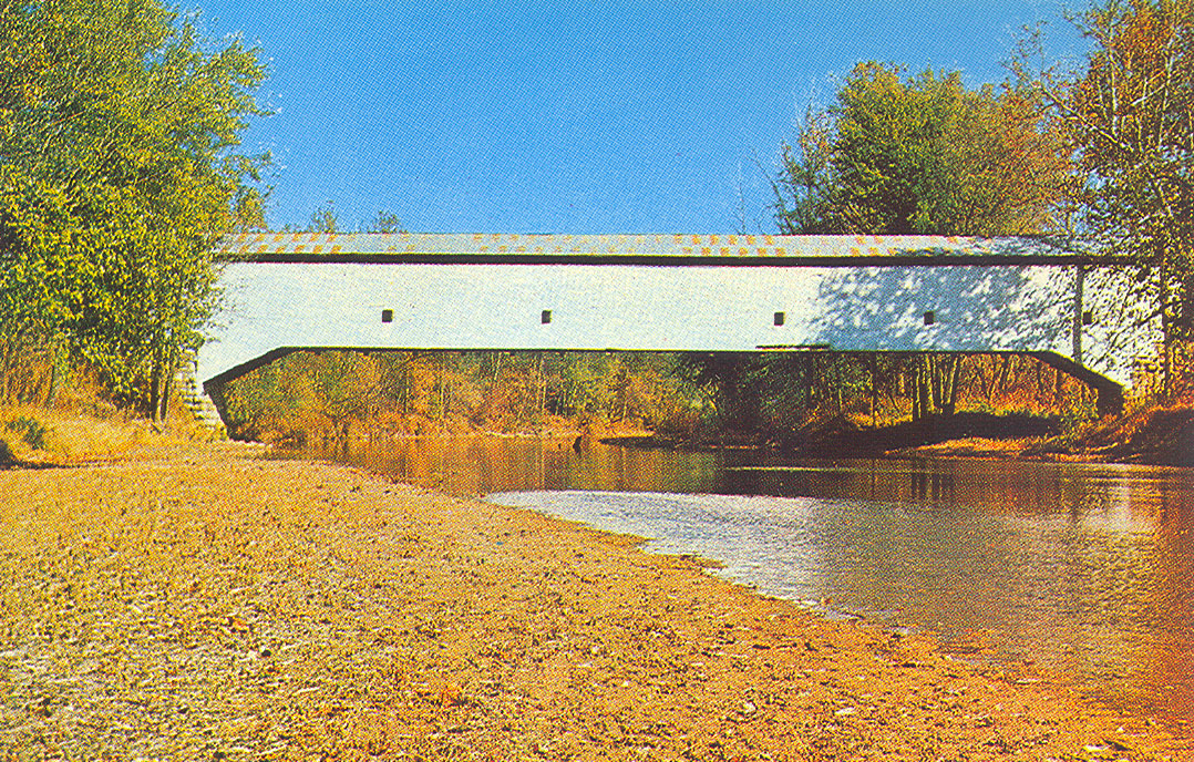Postcard of the Jackson Covered Bridge, Parke County, Indiana.