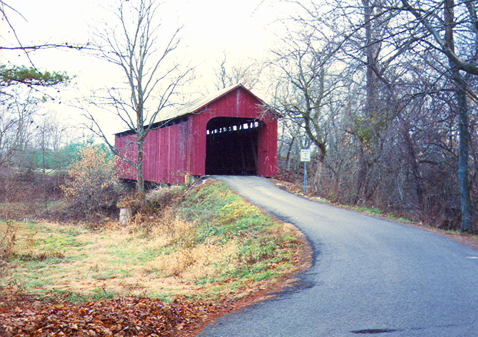 James Covered Bridge in Jennings County, Indiana.  Photographed in 1991.