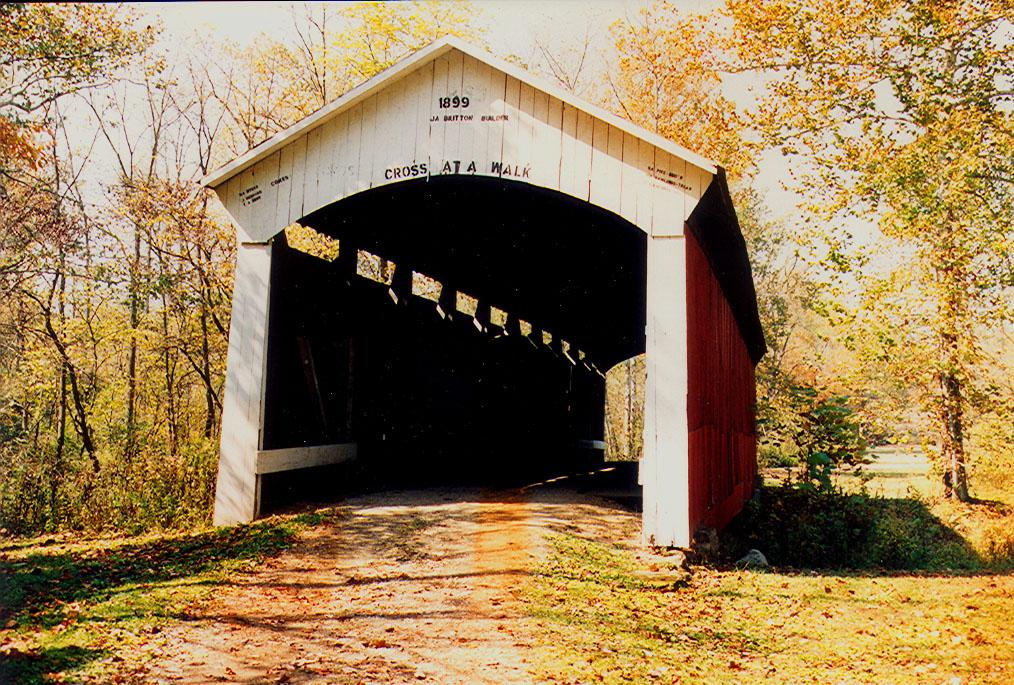 Leatherwood Station Bridge is now located in Billie Creek Village.