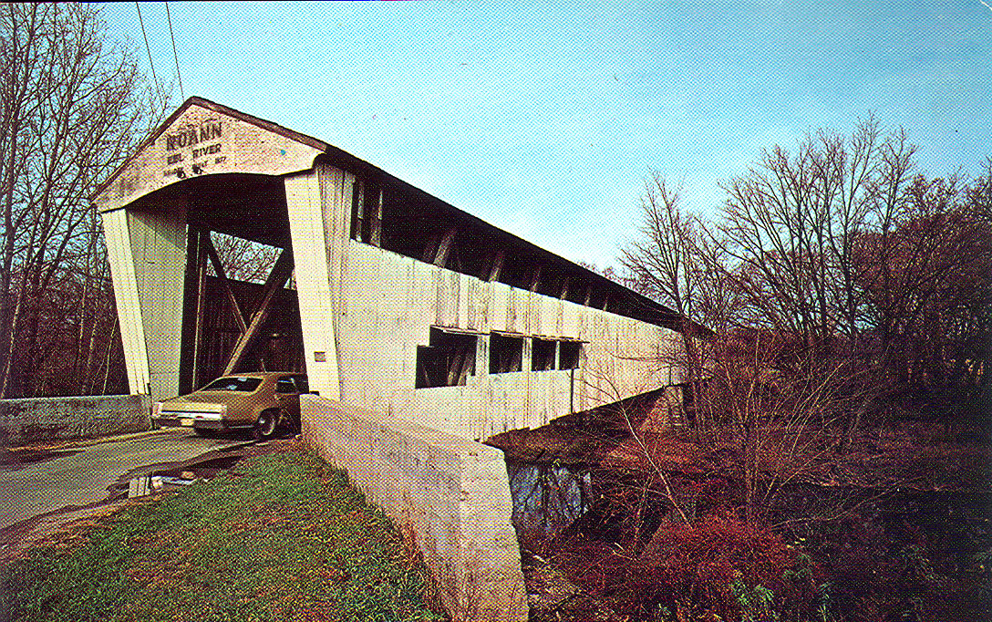 Post card view of bridge from 1960's