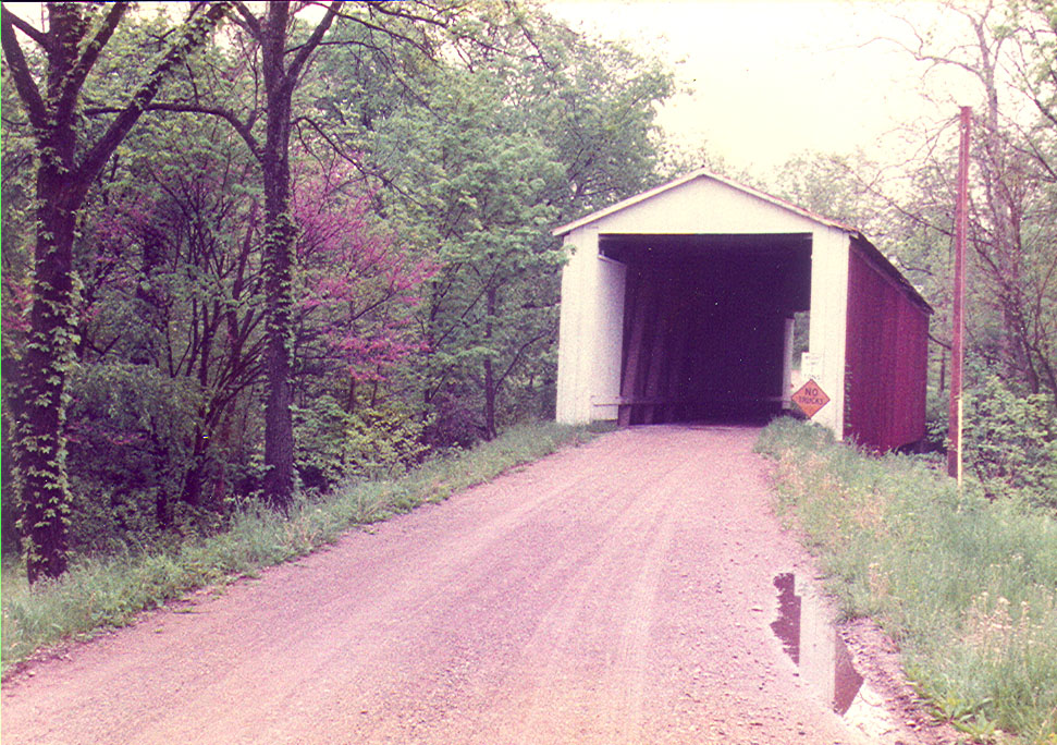 Rob Roy Covered Bridge, Fountain County, Indiana.  Photographed spring 1984.