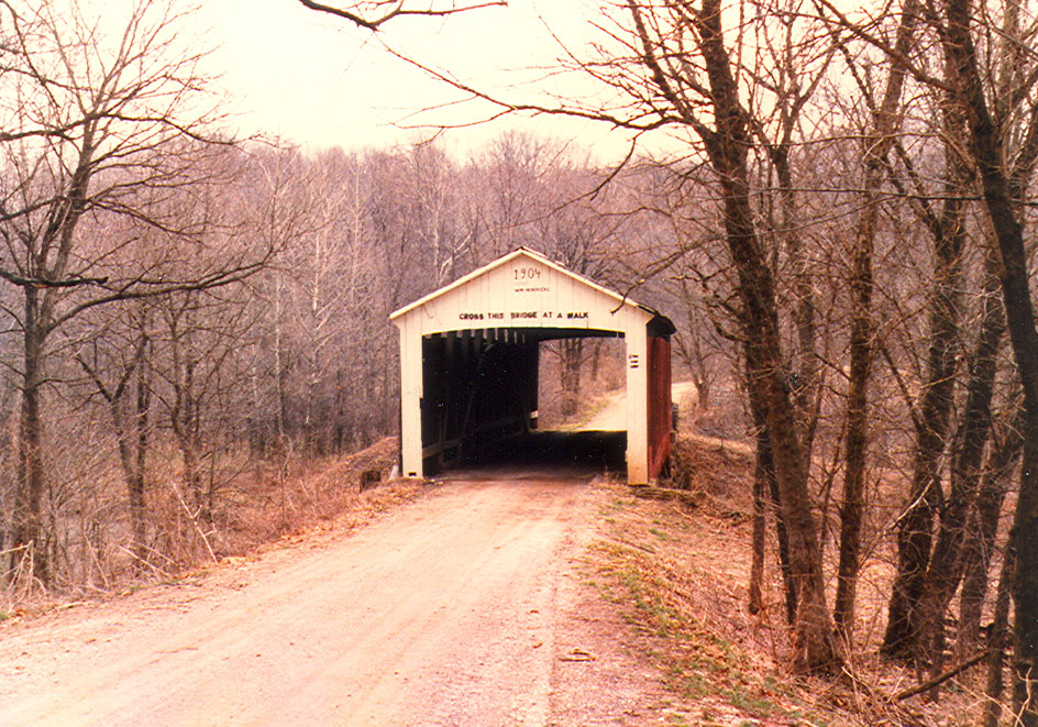 Rush Creek Covered Bridge, Parke County, Indiana.  Photographed in 1981.