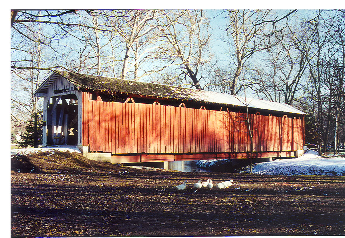 Vermont Covered Bridge, Howard County, Indiana.  Photographed March 1999.