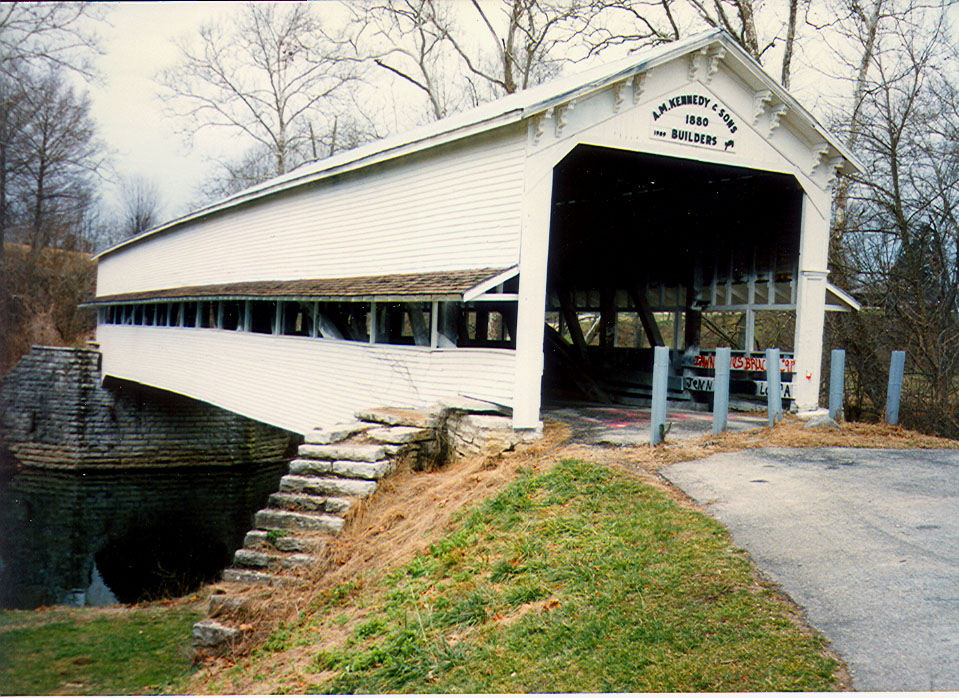 Westport Covered Bridge, Decatur County, Indiana.  Photographed in 1992.